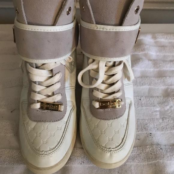 821bdbdd87c bebe Shoes - Bebe Sports Colby High top wedge sneakers